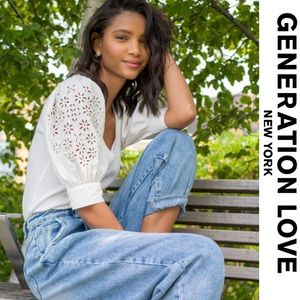 Generation Love Liv Embroidered Top white NWT